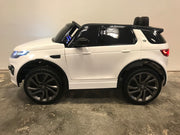 Elektrische auto kind Landrover Discovery wit mp4