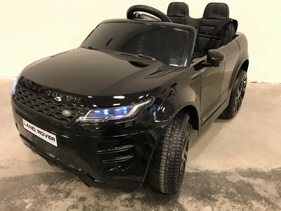 Elektrische kinderauto Range Rover Evoque zwart 4WD MP4 video