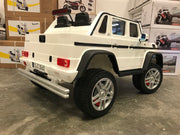 kinderauto  Mercedes G650 maybach twee persoons wit