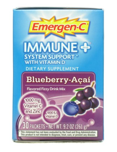 Alacer Blueberry/Acai Immune+ Emergen-C (1x30 CT) Immune Booster Powder
