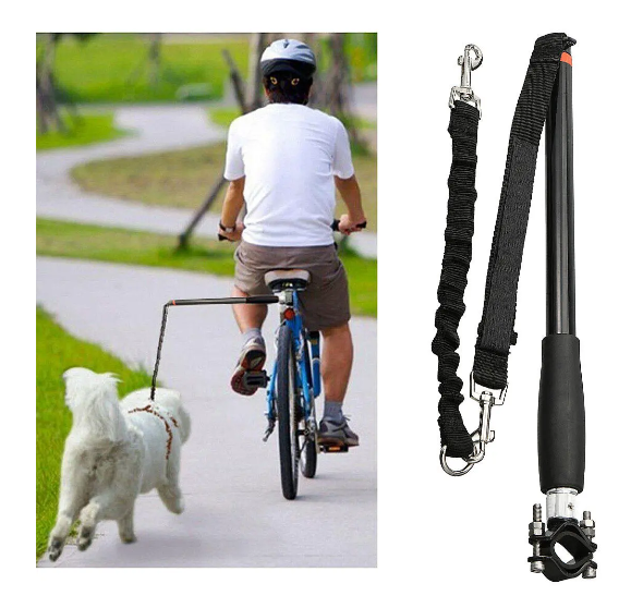 RLTgear™ Dog Bicycle Leash Bike Attachment Hands Free Best Pet Training Walker