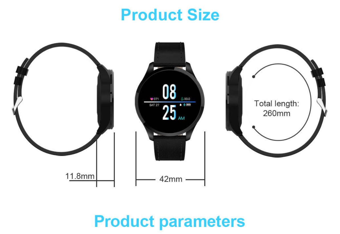 RLTgear™ Multi-dial Heart Rate Blood Pressure Fitness Tracker Fashion Smart Watch