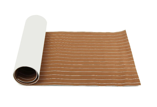 Boatsurf™ Large Foam Light Brown Boat Flooring Faux Teak Decking Sheet Pad 2400x900x6mm
