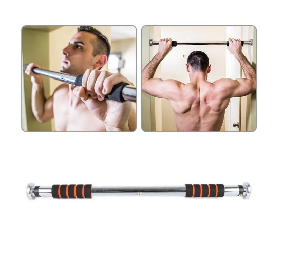 Gym2U™ Chin Up Pull Up Door Horizontal Bars Adjustable Home Gym Workout Training Bar Sport Fitness