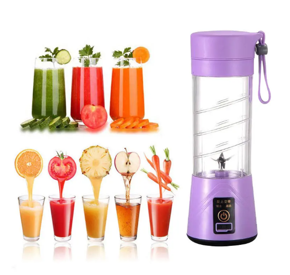 Juice2Go™ Portable USB Fruit Juicer Blender Orange Juicing Extracter Cup Machine 400ml 6 Blades