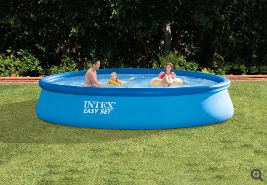 Intex Kids Swimming Pool Above Ground Oval Plastic Backyard with Filter pump 13 ft x 33""