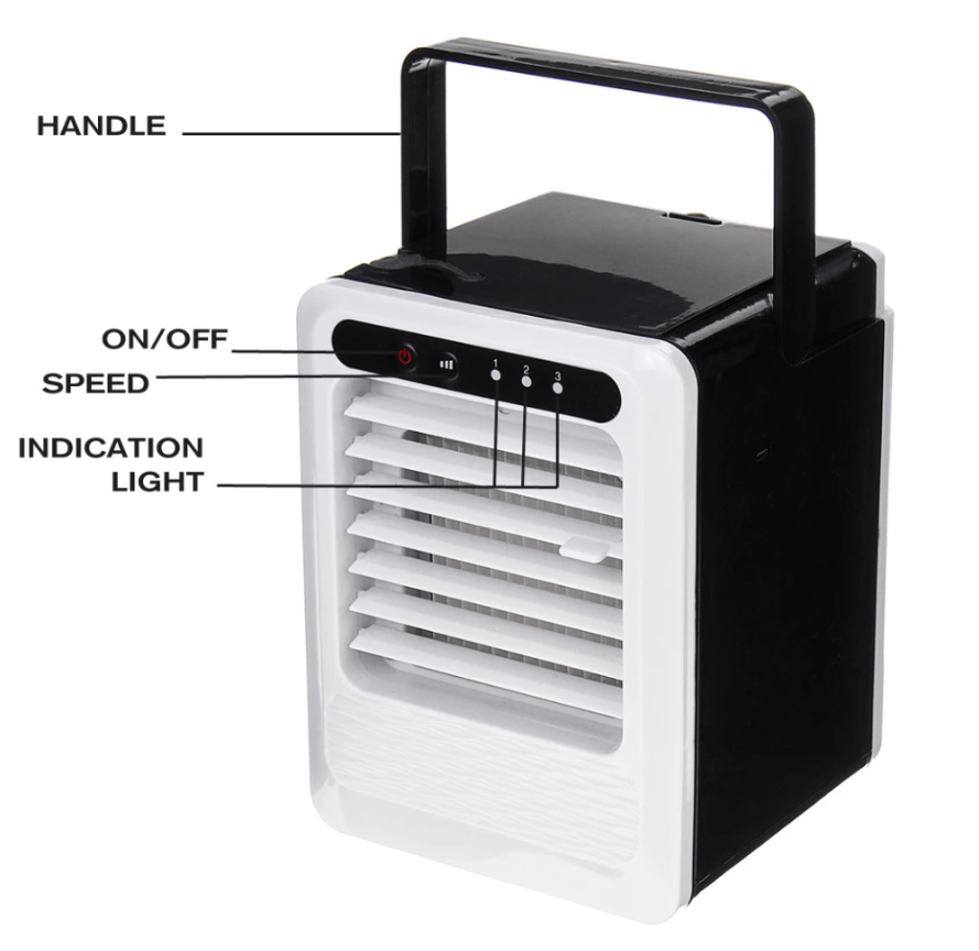 ArcticWind™ Personal Air Cooler Usb Humidifier Mini Portable Air Conditioner Fan Desktop Space Cooler 5V