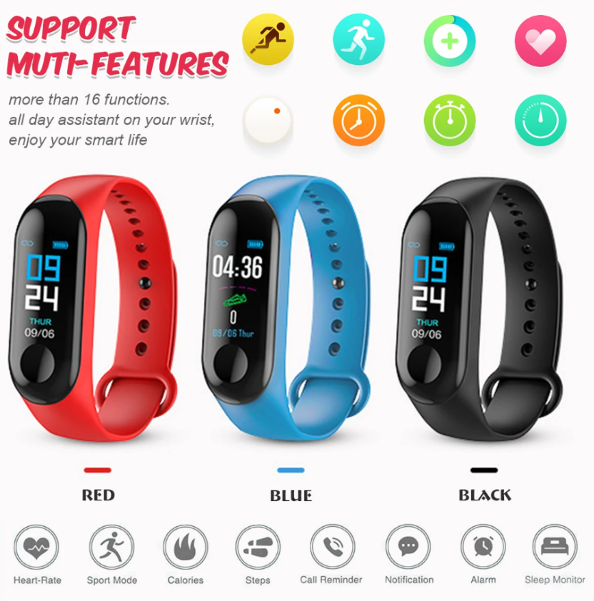RLTgear™  Fitness Tracker Blood Pressure Smart Watch Best Sleep Monitor Band Waterproof Wristband Sport Bracelet
