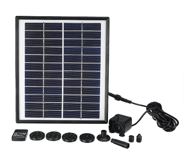 EZPump™ Solar Power Fountain Water Garden Pond Landscape Panel Mosquito Control Pump 12V 5W