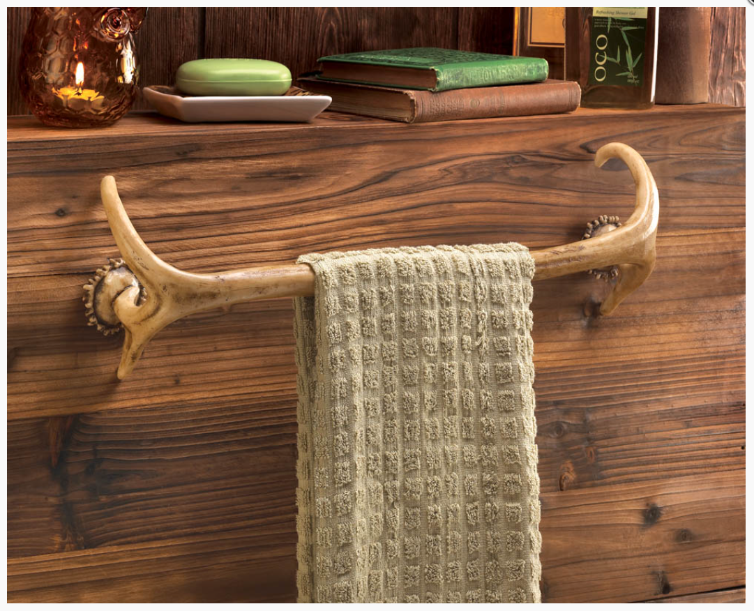 RLTgear™ Antler Rustic Towel Rack Bar Holder Hanger For Bathroom Outdoor