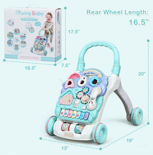 BeBino™ Baby Sit-to-Stand Learning Best Push Walker Toddler Musical Activity Toy