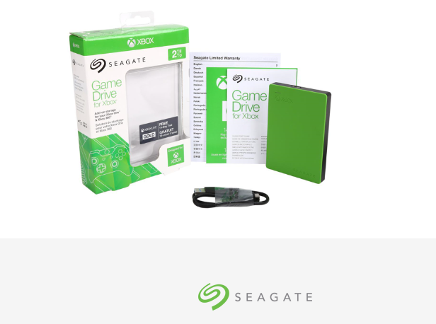 Seagate External Hard Drive for Xbox Game Portable External Compact 2TB USB 3.0