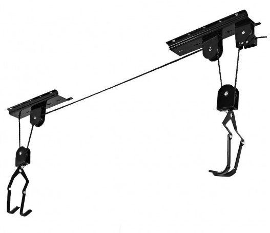 RLTgear™ Garage Bike Bicycle Kayak Canoe Storage Rack Lift Hanger Ceiling Mounted Vertical Hoist