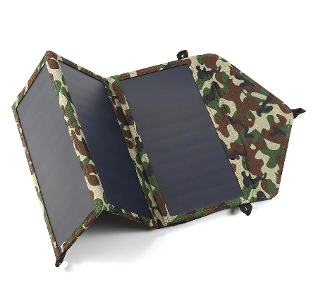 RLTgear™ Foldable Solar Panel Backpacking Camping Charger Phone Power Bank 30W 5V Dual USB