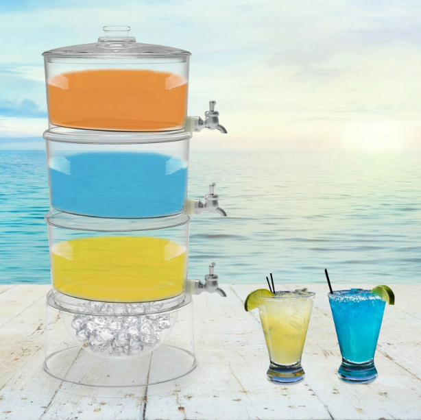 Home4u™ Lemonade Juice Beverage Dispenser Fountain Cold Beer Water Cooler Drink Container For Party And Weddings