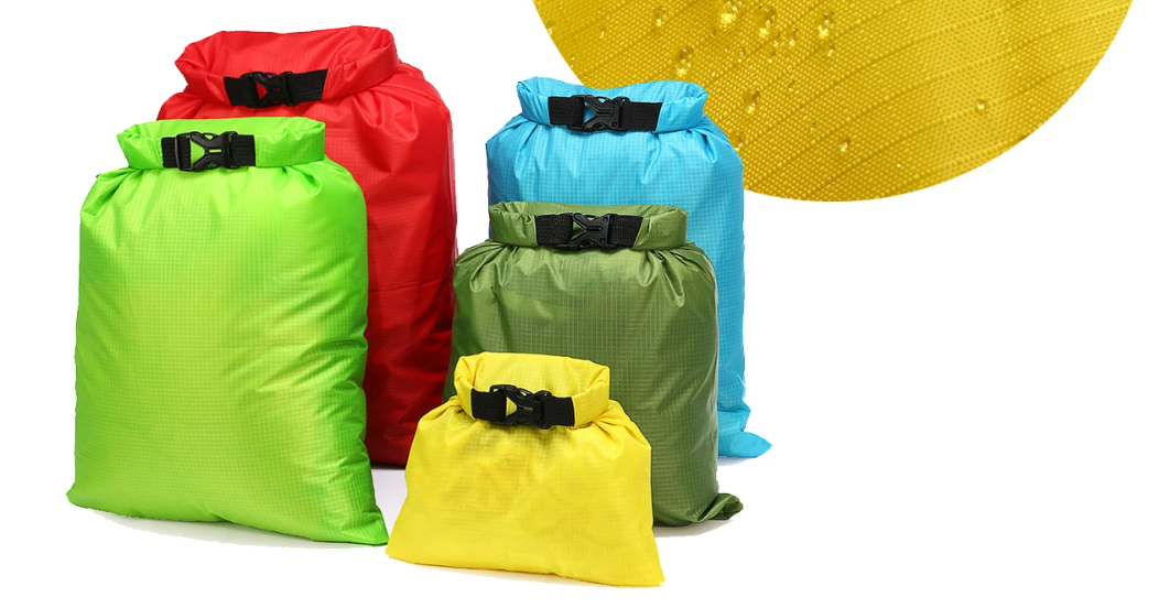 RLTgear™ 5Pcs Waterproof Dry Sac Buckled Storage Bag Best For Beach Kayak Canoe Swimming Hiking Backpacking Hunting Camping