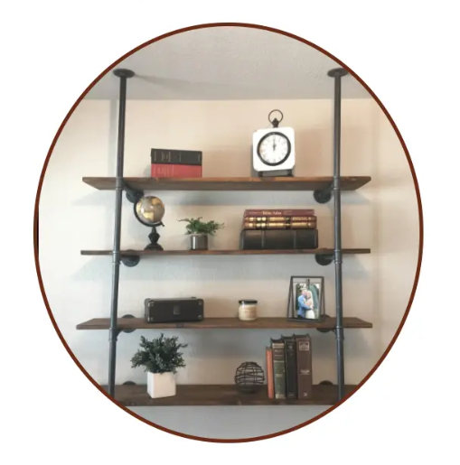 black pipe shelf kit
