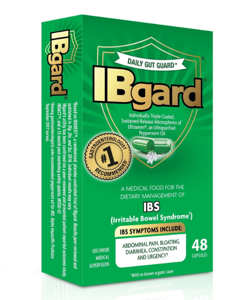 IBgard IBS Irritable Bowel Syndrome Treatment Relief Spastic Colon Natural Home Remedy Help