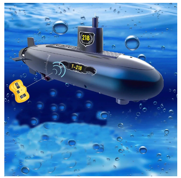 FastDive™ Kids RC Best Submarine Boat 6 Channels Remote Control Under Water Ship Toy Model DIY