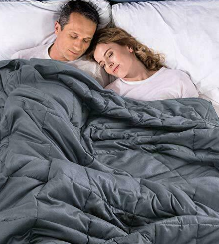 SleepEZ™ Weighted Gravity Blanket 25Lb KING SIZE Best Heavy Deep Sleep Autism Anxiety Therapy Comforter