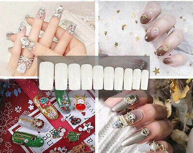 MaMee™ Fake Nail Tip Top Kit 500Pcs Best Acrylic False Natural Fashion Nails With Cute Box Beauty Tool