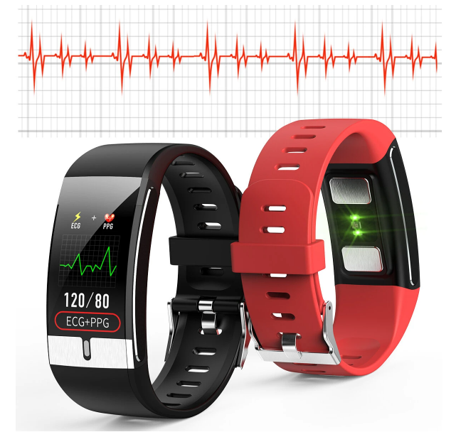 TempBand™ Thermometer Heart Rate Blood Pressure Smart Watch ECG+PPG Oxygen Monitor Fitness Tracker