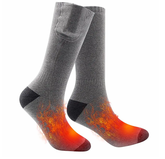 CozyFeet™ Heated Warming Socks Electric Lithium Battery Operated Rechargeable
