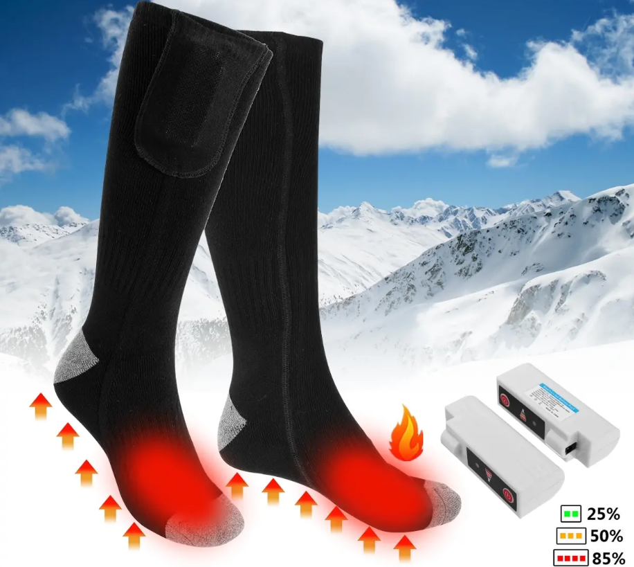 CozyFeet™ Heated Electric Socks Warming Lithium Battery Operated Rechargeable