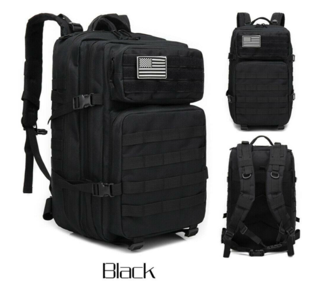 45L Military Tactical Backpack Army Cool Molle Bag Hiking Travel Hunting Rucksack