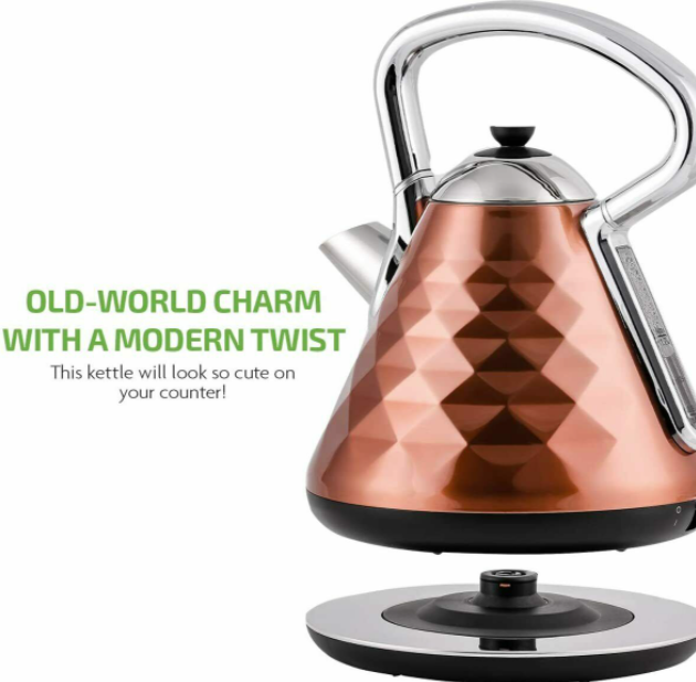 Premium Electric Hot Water Kettle Best Tea Coffee Maker Copper Stainless Steel