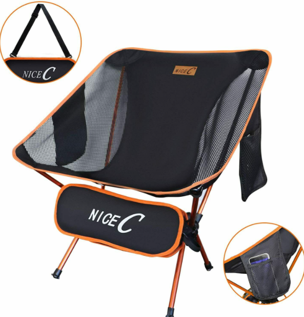 NiceC™ Ultralight Backpacking Chair Foldable Camping Beach Outdoor Hiking Stool