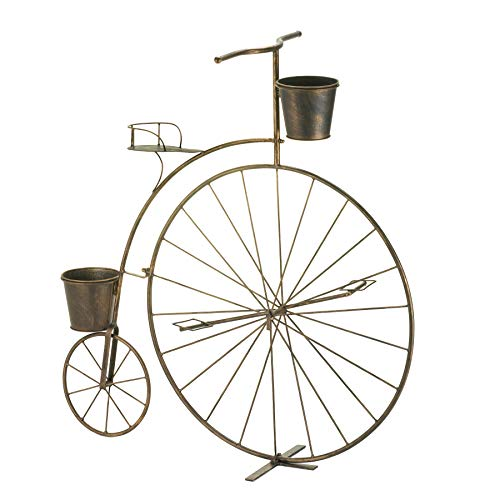 Home 4U™ Mothers Day Tall Tiered Metal Old Fashioned Bicycle Indoor Outdoor Plant Shelf Stand