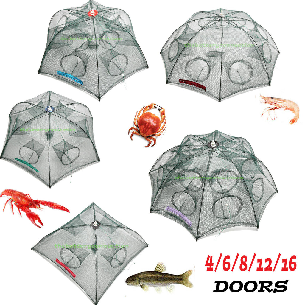 Foldable Fishing Bait Crab Shrimp Trap Net Cast Dip Collapsible Fish Crawfish Minnow Cage