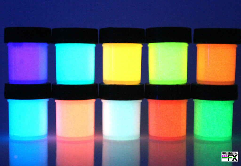 10Pcs Long Lasting Glow In The Dark Paint Best Acrylic Phosphorescent For Holiday