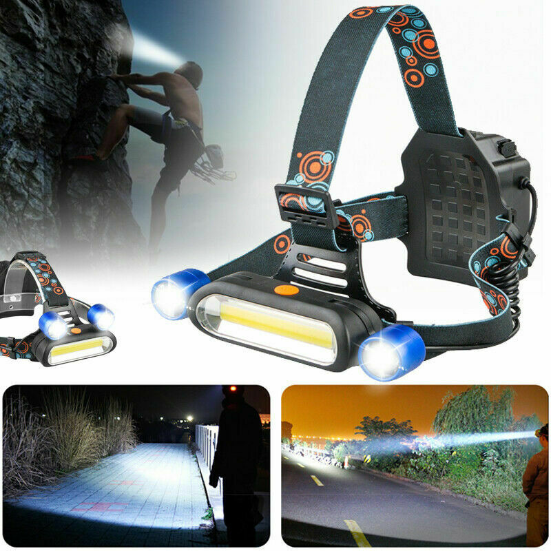 RLTGear™ LED USB Rechargeable Brightest Headlamp Head Light Flashlight Torch For Hunting Hard Hat Tactical