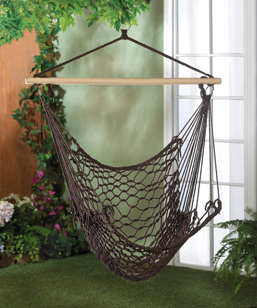 RLTgear™ Hammock Chair Swing Hanging Lounger Stand White Expresso