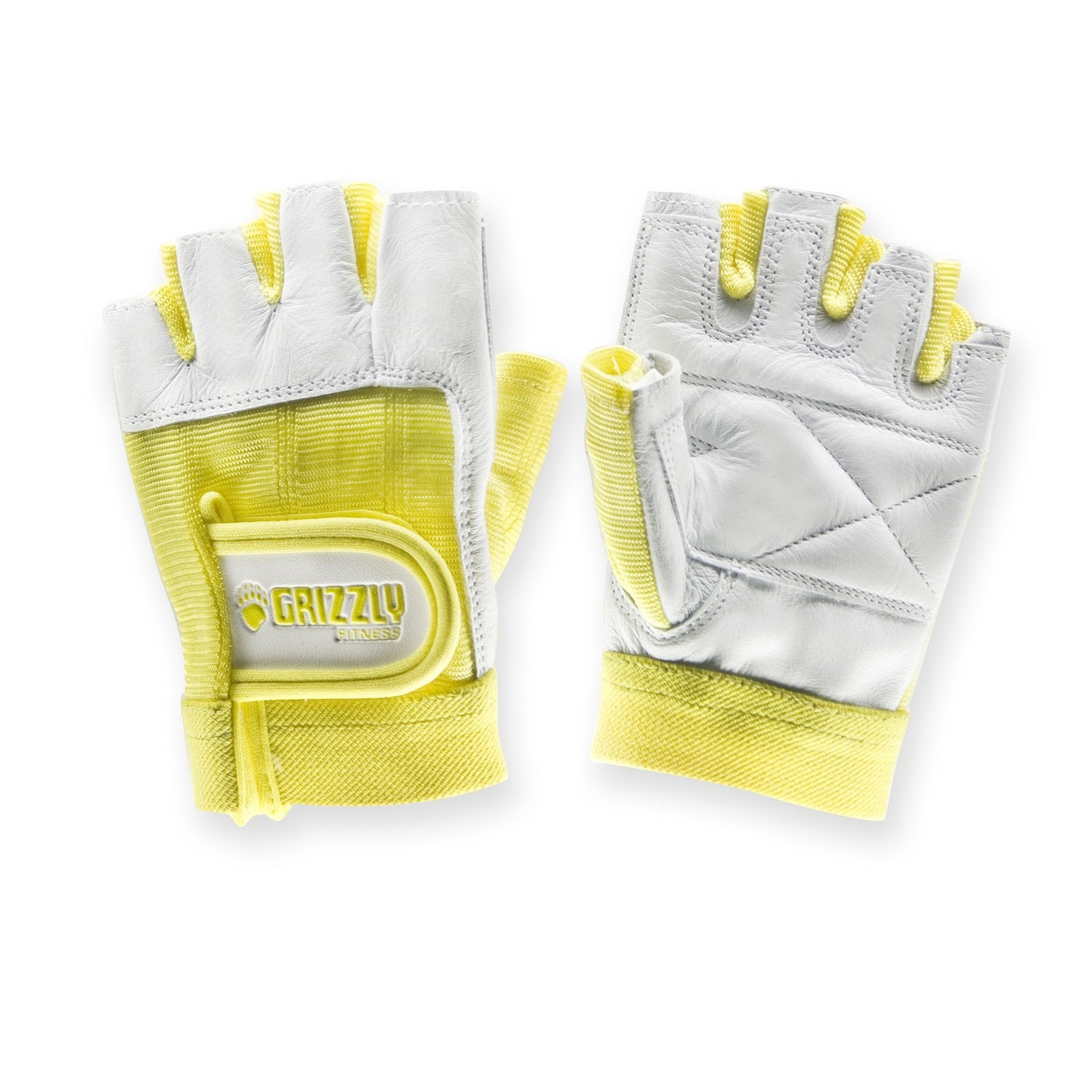 Grizzly Womens Yellow Gym Workout Weight Training Lifting Gloves