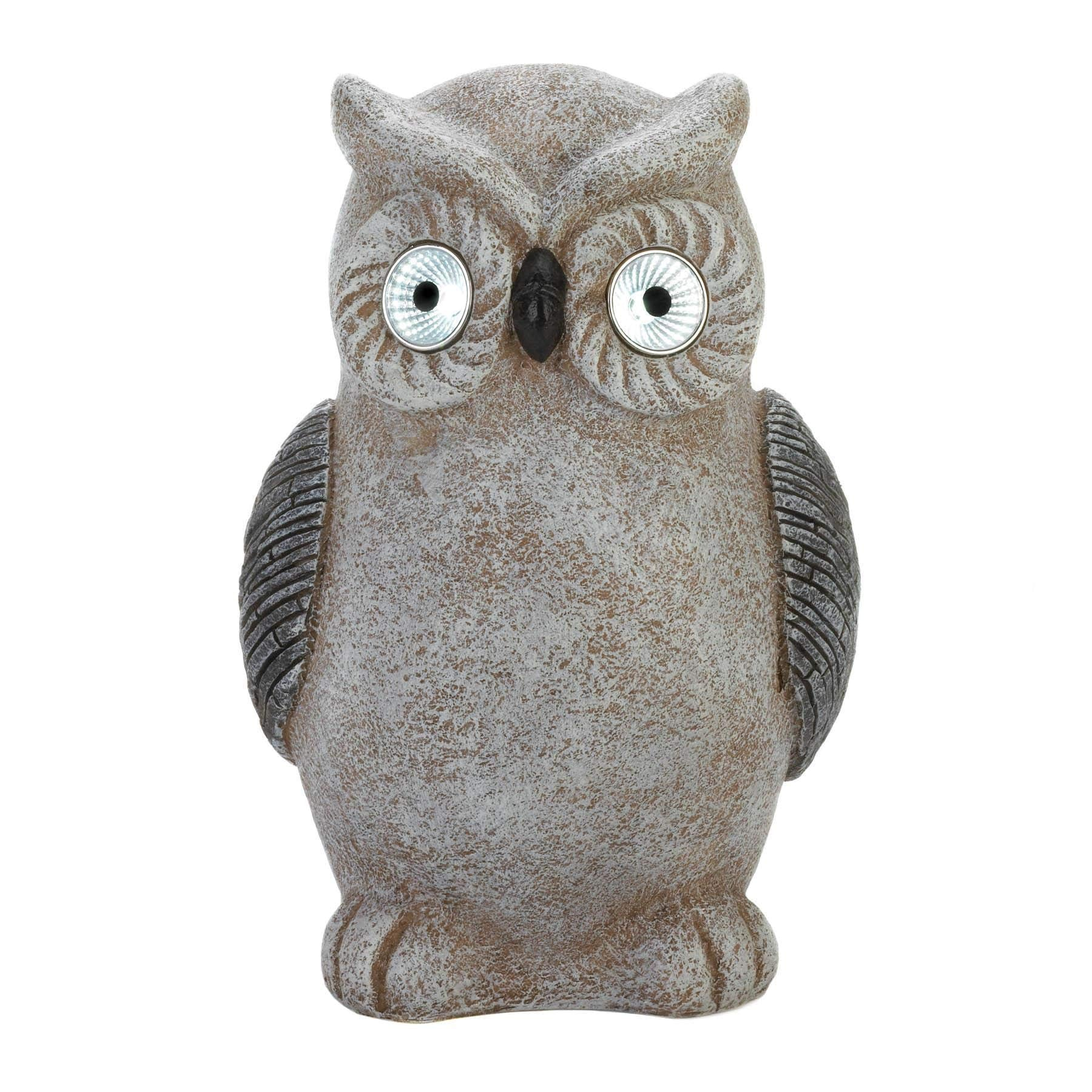 Home4U™ Solar Owl Garden Lawn Statue Ornament Yard Sculpture Pest Control