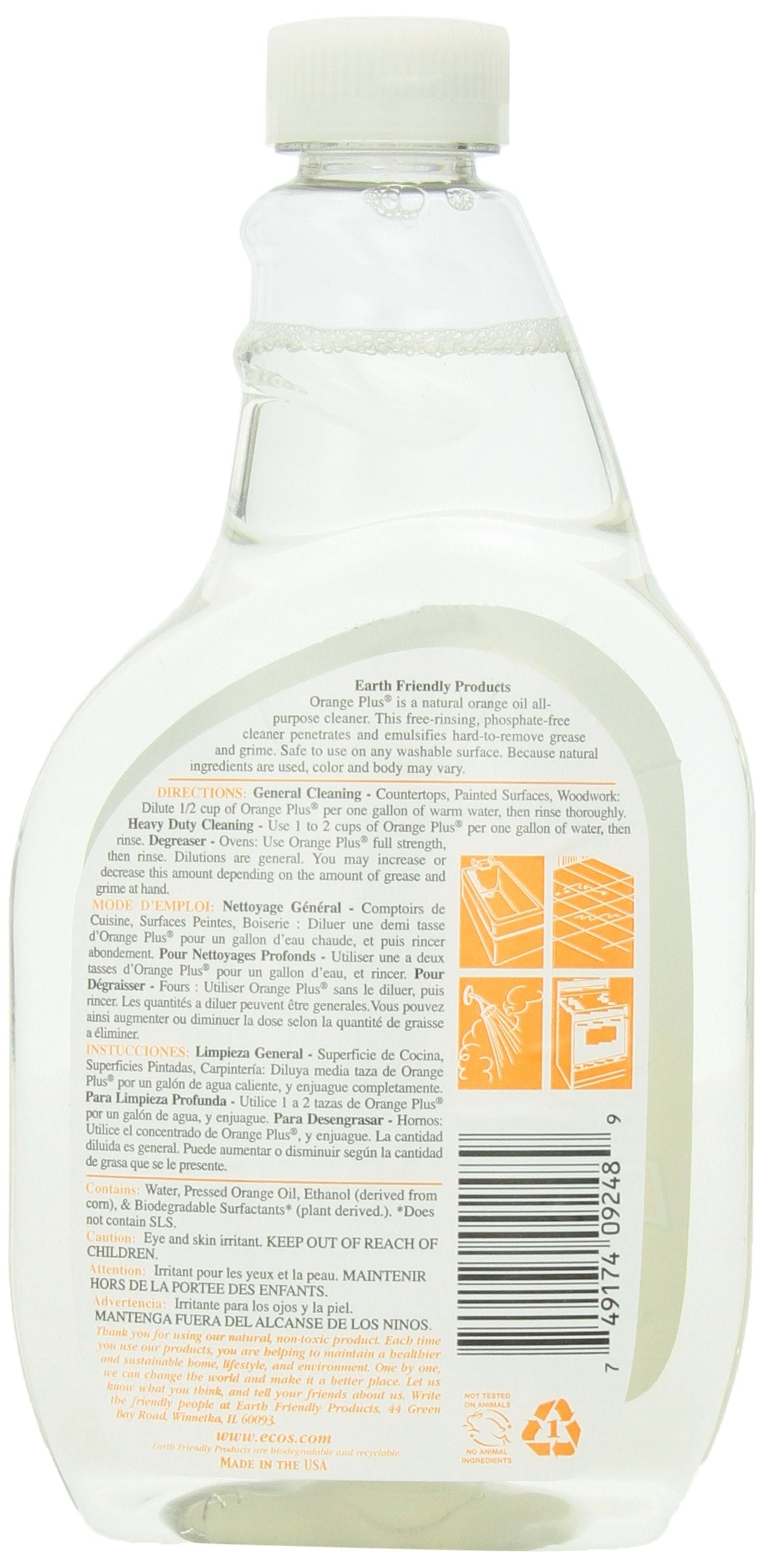 Natural Earth Friendly Orange Plus Concentrated All Purpose Cleaner (6x22Oz)