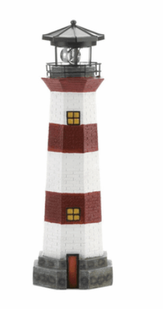 Solar Powered Lighthouse Spinning Windmill Garden Lawn Patio Decoration