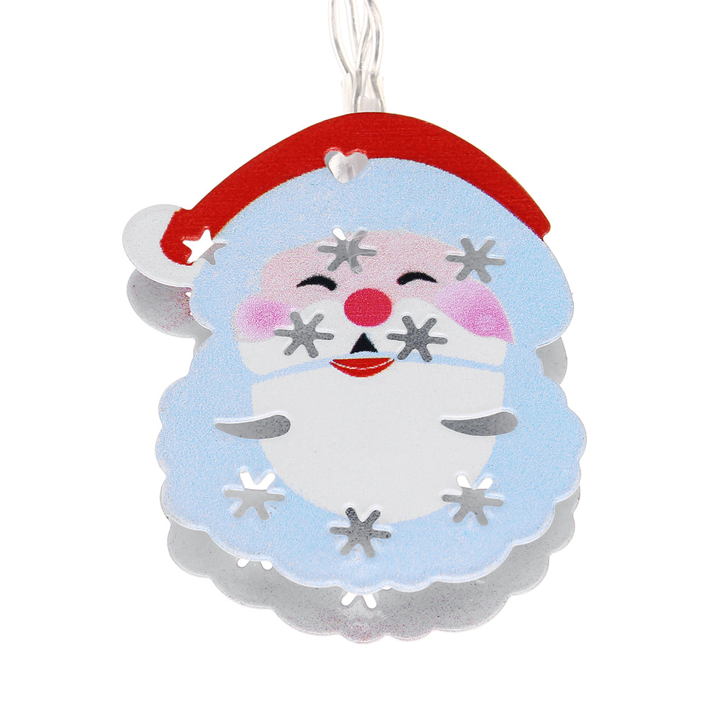 Christmas Battery Operated Powered LED Lights Santa Claus Holiday Bell Decor Tree Fairy String Garland
