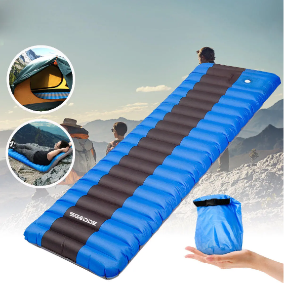 Air Mattress Outdoor Camping Backpacking Hiking Inflatable Sleeping Pad Ultralight