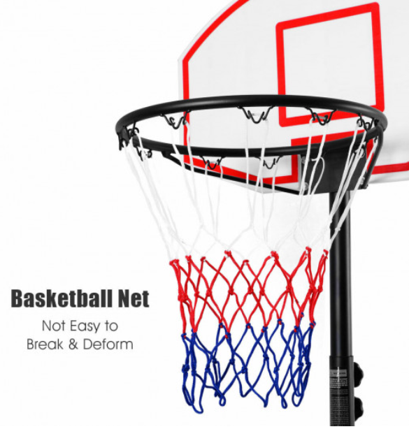 Basketball Net Hoop Kids Youth Child Adjustable Portable System Stand with Wheels