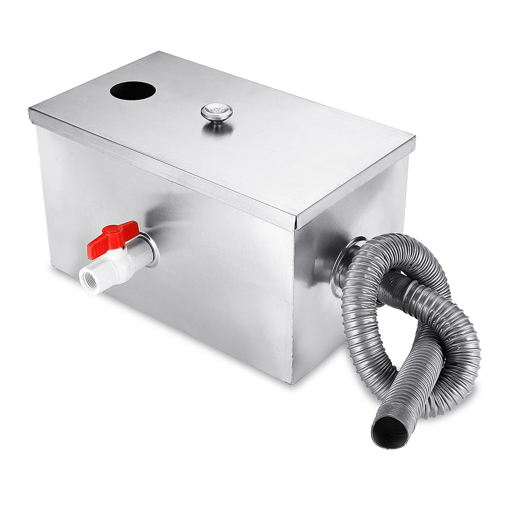 GreasePit™ Grease Oil Trap Interceptor Tank For Sink Residential Commercial Kitchen Restaurant Drain