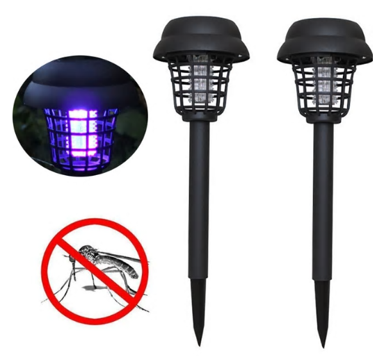 BugZap™ Solar Powered Mosquito Killer Bug Zapper Lamps Insect Repellent Garden Lawn LED Light