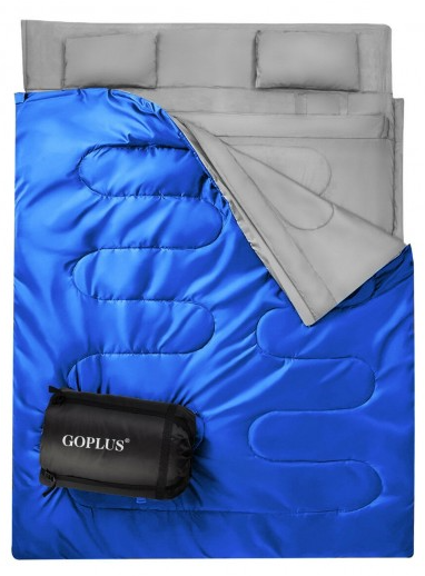 2 Person Oversized Sleeping Bag Double with 2 Pillows Waterproof