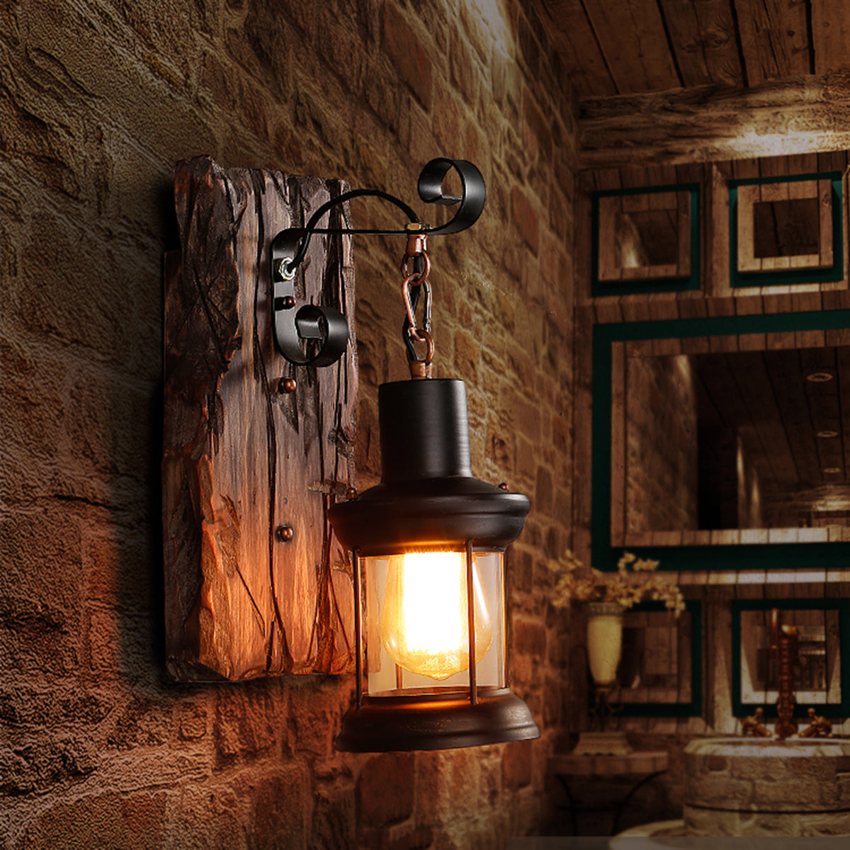 Dalran™ Basement Bar Rustic Sconce Industrial Metal Vintage Wall Lamp Fixture Light
