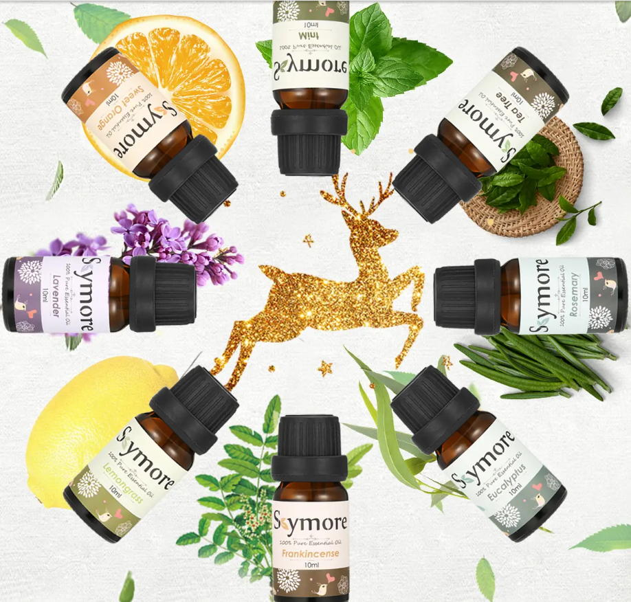 Skymore Top 8 Pure Essential Oils Set 100% Pure Aromatherapy Oils for Diffuser Mothers Day Gift