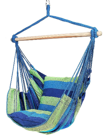 Hammock Hanging Chair Swing Chair Seat Garden Furniture Max Load 100kg Indoor Outdoor