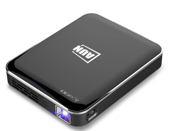 AUN X3 Mini Projector 1080P Android/IOS Phone Screen Mirroring Home Cinema 3D beamer 3200mAH Battery Portable projector